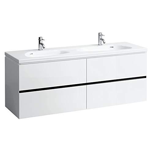 Laufen Palomba Waschtischunterschrank für Waschtisch 814809, ohne Steckdose, 4 Schubladen, 575x1585x495, Farbe: Kirsche Vermont dunkel
