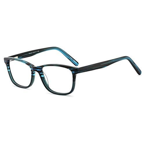 MARE AZZURO Blaulicht-blockierender rechteckiger Brillenrahmen für Frauen Computer