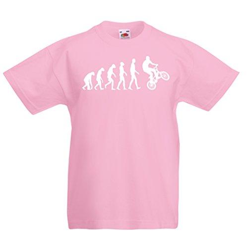 lepni.me Kids T-Shirt Menselijke Evolutie en Fiets - Fietsen – Fietsaccessoires, Fietskleding
