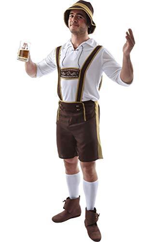 ORION COSTUMES Herren Lederhose Oktoberfest Bierfest Bayerisches Outfit Junggesellenabschied Maskenkostüm