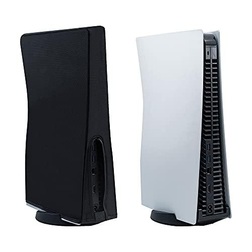 Mcbazel Funda protectora antiarañazos / resistente al agua Funda protectora para PS5 Edición digital / Consolas Ultra HD – Negro