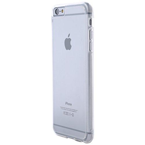 Ultratec Funda protectora híbrida para smartphone / carcasa con borde de TPU de color para iPhone 6 Plus y 6s Plus, con funda con cremallera, transparente/cristal