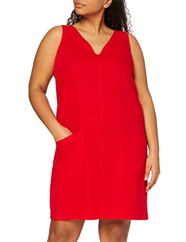 find. Damen Mini A-Linien-Kleid aus Leinen, Rot, 40, Label: L