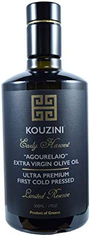 Kouzini Early Harvest Limited Reserve Raw Unfiltered Agourelaio Extra Virgin Greek Olive Oil product image