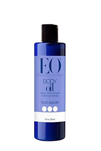 EO Body Oil for Massage amp Moisture French Lavender 8Ounce Bottles Pack of 2