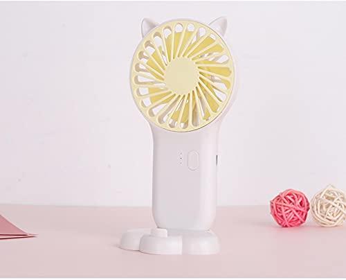 Usb Mini Ventilador Plegable Portátil Eléctrico Soporte Pequeño Enfriador De Aire Carga Original Aparatos Eléctricos Domésticos Ventilado De Escritorio Blanco
