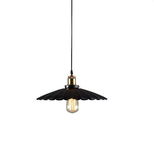 PXY Lámpara Colgante de Techo de Metal, Accesorios de Pantalla, Iluminación Industrial Vintage Edison con Cable de 1,1 M para Bombillas E27