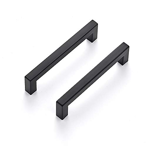 Ravinte 40 Pack 5 Inch Kitchen Square Cabinet Handles Matte Black Cabinet Pulls Black Drawer Pulls Kitchen Cabinet Hardware Kitchen Handles for Cabinets Cupboard Handles Drawer Handles