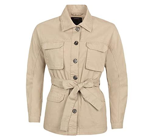 Tiffosi Chaqueta botones cinturón mujer - XL, Beige