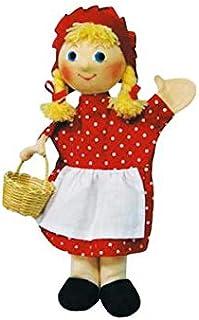 Moravská ústredna 26047A Red Riding Hood with Braids Puppets, Multicolour