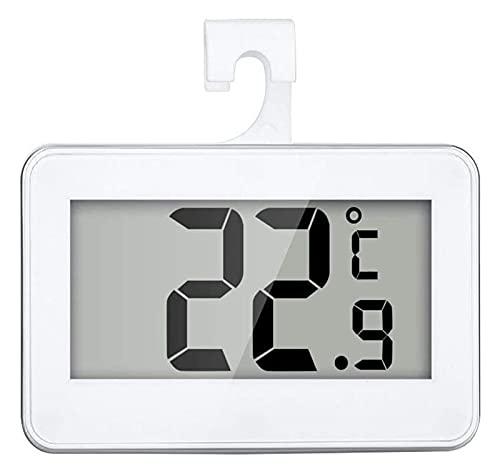 TONG Termómetro de refrigerador Congelador Termómetros Digital Impermeable Inalámbrico Frigorífico Frigorífico Termómetros de -20 a 60 Grados con Big LCD Monitor práctico