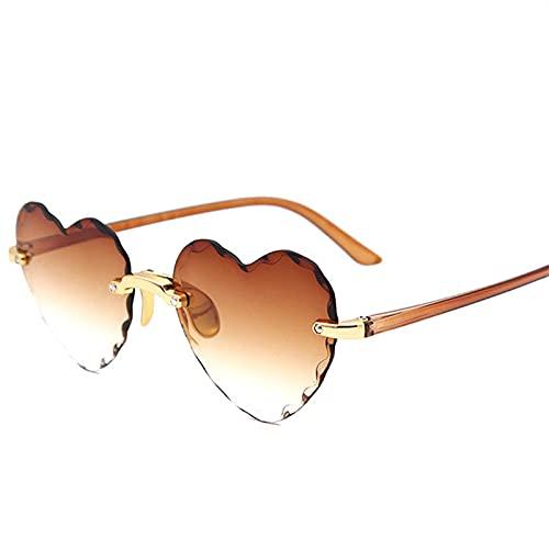 Gafas De Sol De Corazón Vintage para Mujer, Diseñador De Marca, Gafas De Sol con Degradado De Color Caramelo, Gafas Al Aire Libre, Fiesta C6
