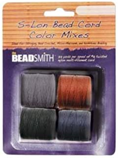 4 Spools Super-lon #18 Cord Ideal for Stringing Beading Crochet and Micro-macram Jewelry Compatible with Kumihimo Projects S-lon Stone Mix
