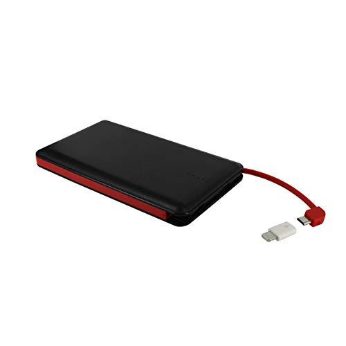 Muvit MWCHP0096 - Batería Externa 8000 mAh con Cable Micro-USB Incluido y Adaptador Lightning, Color Negro