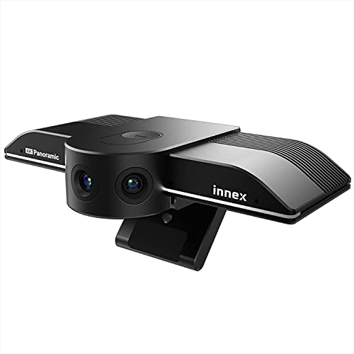 4K Panoramic Webcam, Innex C830, with 180° to 75° Flexible View Angle and AI Facial Tracking, Auto...