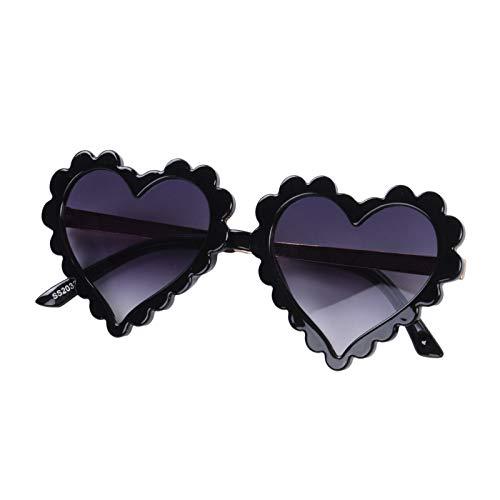 ZZLBUF Gafas de sol con forma de corazón para el día de San Valentín para niños y niñas de 2 a 8 años de edad con protección UV para exteriores de playa