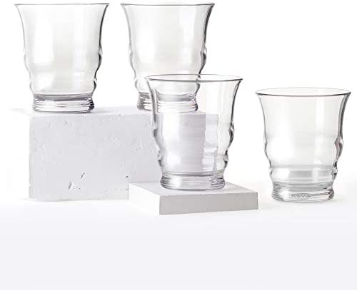 Cupture Riviera Tumblers Unbreakable Drinking Glasses BPA Free Material 12 oz 4 Pack Clear product image