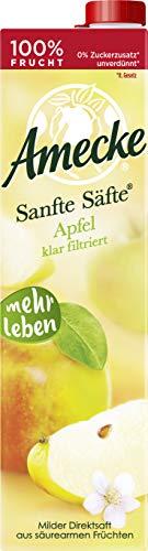 Amecke Sanfte Apfel Klar - 100 Prozent Saft, 6er Pack (6 x 1 l), 41906