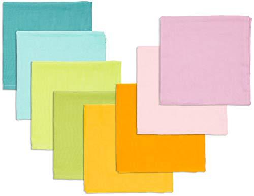 Bio Spieltücher 100% Bio-Baumwolle (kbA) GOTS zertifiziert, Pastell, 50 x 50 cm, 8er-Set