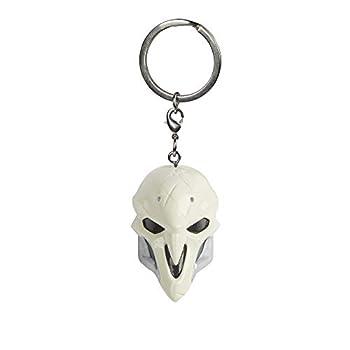 JINX Overwatch Reaper Mask 3D Plastic Key Chain Multi-Colored 1.75  Tall
