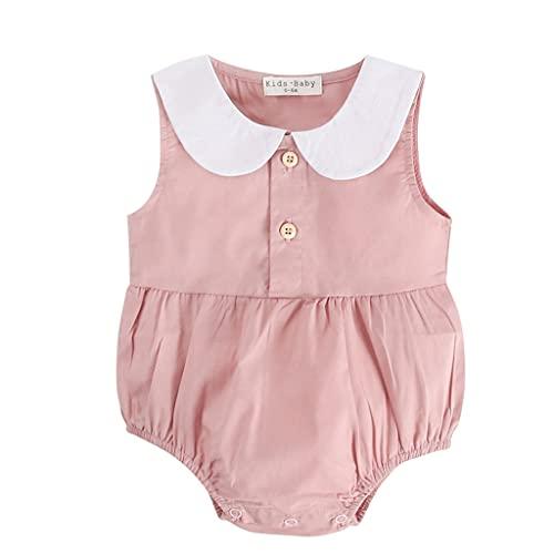 UMore Bebé Niños Niñas Mono Mameluco de Manga Corta Body Algodón Peleles Comodo Pijama Regalo de Recien Nacido