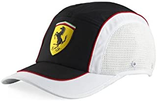 FERRARI Sports Cap - White & Black
