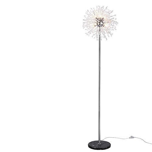 WUYUESUN Lámpara de pie posmoderna para sala de estar, diseño de diente de león creativo, de madera, luz de Navidad, LED, para dormitorio, árbol, lámpara LED (color de la pantalla pequeña)