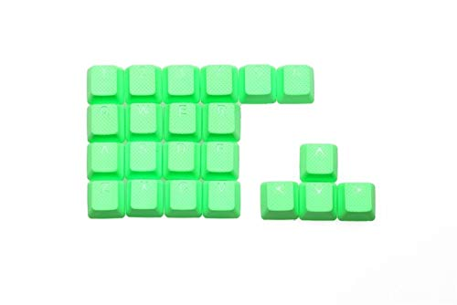 Gaming Keycap Set gummiertes Double Profil 22 Key Magenta Violett Grün Gelb Hellblau (Color : 22 Key Neon Green)