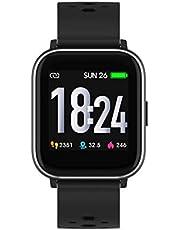 Denver SW-163 Bluetooth-smartklocka med pulssensor och kroppstemperatursensor svart
