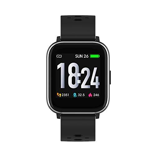 Denver SW-163 Bluetooth-Smartwatch mit Herzfrequenzsensor und Körpertemperatursensor Schwarz SW163
