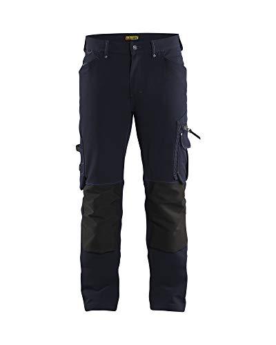 Blaklader 198916448699C152 X1900 - Pantalones de trabajo sin bolsillos para clavos, elásticos en 4 direcciones, color azul marino/negro, talla C152