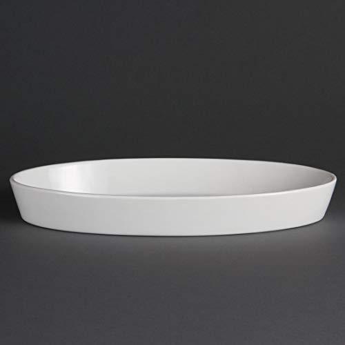 Olympia w422 Whiteware Plat à sole ovale, blanc (Lot de 6)