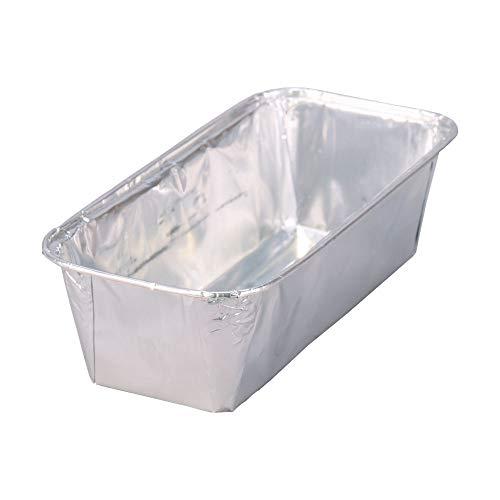 Wertpack 40x Aluformen für Fleischkäse, Leberkäsform, Alu, Silber, 2 kg, 305x117x80 mm