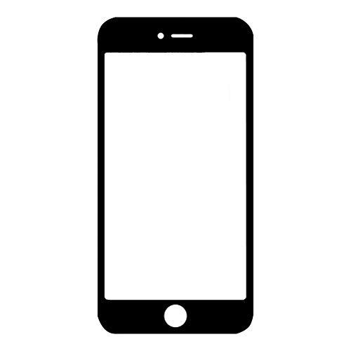 NXACETN Loca Glue Kit De Reparación Exterior De Reemplazo De Pantalla De Vidrio Frontal Compatible con iPhone 6 6S 7 8 Plus Negro compatbile con el iPhone 6