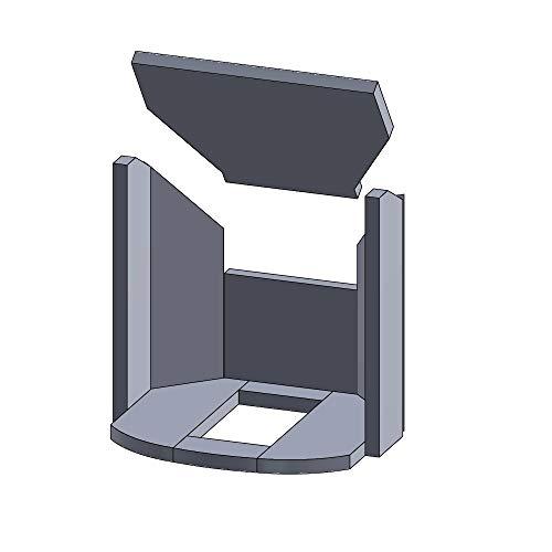 Kaminofen Schamotte/Vermiculite passend für Justus P50-8 A - Set 10-teilig Feuerraumauskleidung