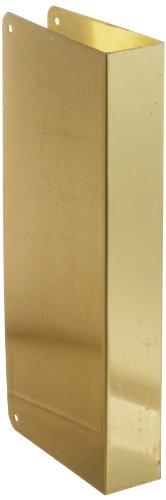 Don-Jo 90-CW 22 Gauge Edelstahl blanko Wrap-Around Platte mit Zierschrauben, poliertes Messing-Finish, 12,7 cm breit x 30,5 cm hoch