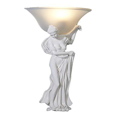 WJ Kreative Engel Wandlampe Europäischen Modernen Stil Nachttischlampen Wandleuchten Harz Wandlampen Weiß Milchglas Lampenschirm E27 Hotel Korridor Esszimmer Wohnzimmer Treppe Schlafzimmer
