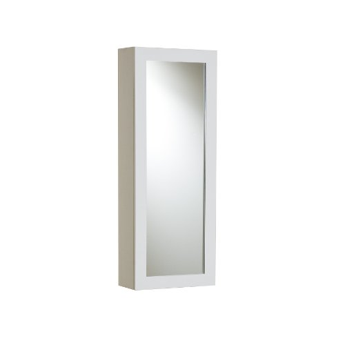 SEI Furniture Wall Mount Fold Ironing Center with Mirror