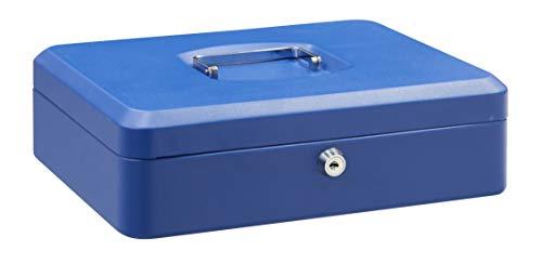 Arregui C9245 Caja de Caudales de Acero, 30 cm de ancho, con bandeja multifunción, azul, 300 x 90 x 240 mm