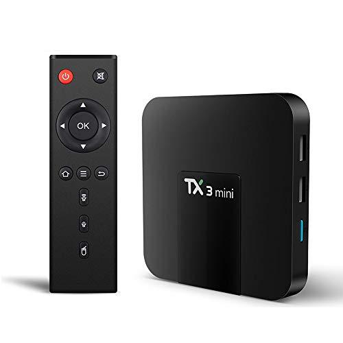 Xilibod Android 8.1 TV Box 2GB RAM/16GB ROM, H.265 Decoding 2.4G WiFi Smart TV Box - Model No.: TX3 Mini 2GB 16GB