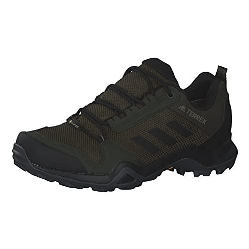 adidas Herren Terrex AX3 Gore-TEX Walking Shoe, Night Cargo/Core Black/Raw Khaki, 42 EU