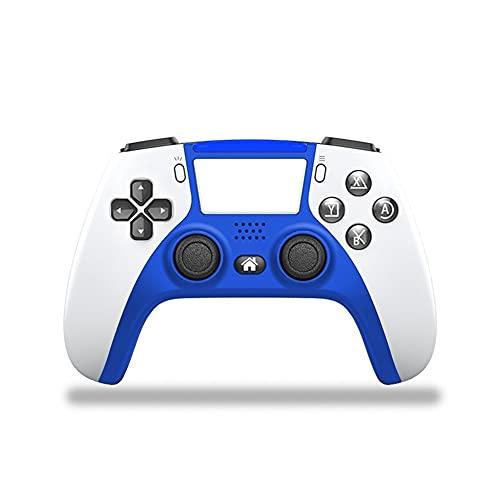 Lpzw Controlador de Juego inalámbrico Joystick Gamepad Double Vibration Double Vibration Control Remoto inalámbrico Joystick (Color : White and Blue)