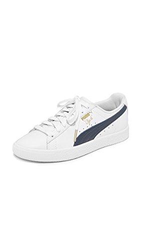 PUMA Women's Clyde Core Sneakers, Puma White/Puma New...