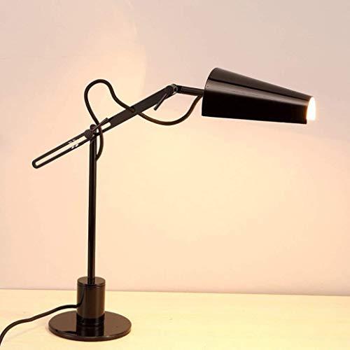 DJSMtd 18,5 Pulgadas de Hierro Negro Tabla iluminación de la lámpara Ajustable de Aprendizaje Protección de los Ojos ángulo lámpara de Escritorio de la Sala de Estar Dormitorio lámpara de cabecera
