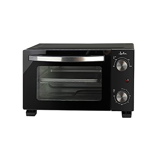 Jata JEHN0910 - Horno de sobremesa con capacidad de 10 litros. 2 funciones: horno y grill. Bandeja y parrilla. Con temporizador. Fácil limpieza. Medidas externas: 37 x 27 x 23 cm.