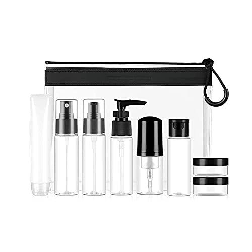 JYDNBGLS Paquete de bolsa de TPU, viaje Sub embotellado, spray Emulsión Crema Botella, Mousse Foam Cosmetics Sub Bottle Beauty
