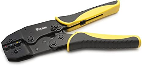 Titan Tools 11477 Ratcheting Wire Terminal Crimper Tool for Insulated Terminals