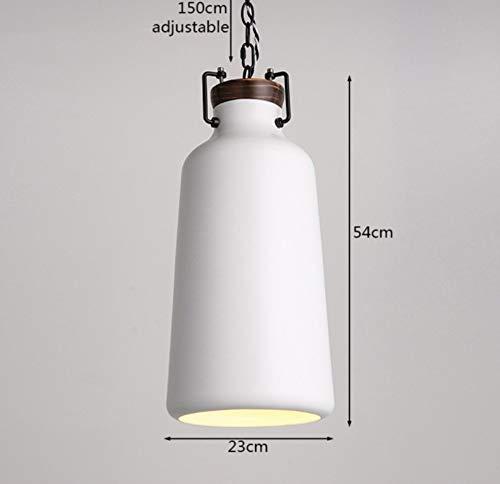 IJzeren ketting verstelbare hanglampen enkele kop E27