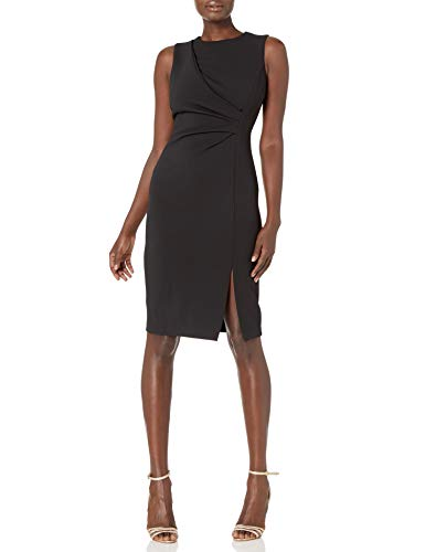 Calvin Klein Women's Sleeveless Sheath with Front Side Slit