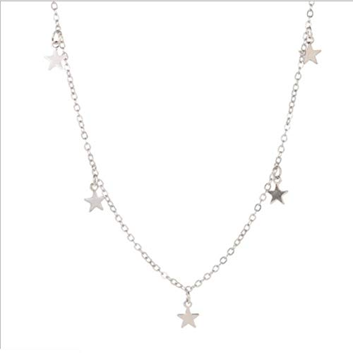 Colgante de Personalidad de Estrella de Cinco Puntas de Estrella de Moda Simple Europea y Americana Colgante de Estrellas de 7 Piezas